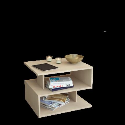 Журнальный столик MFMaster Арто-22 МСТ-СЖА-22-ДМ-16 59х39х42,8 см, дуб молочный