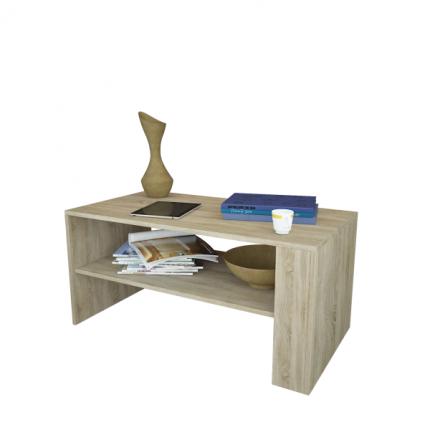 Журнальный столик MFMaster Арто-21 МСТ-СЖА-21-ДС-16 80х49х45 см, дуб сонома