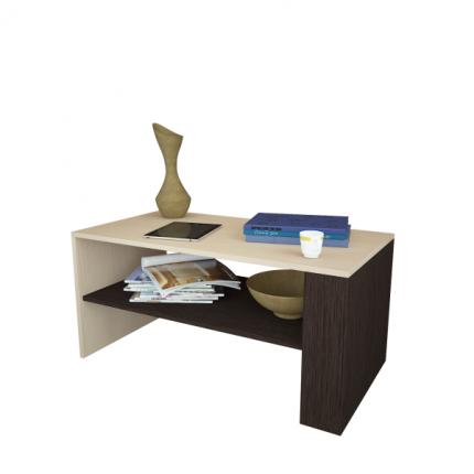 Журнальный столик MFMaster Арто-21 МСТ-СЖА-21-ДВ-16 80х49х45 см, дуб молочный/венге