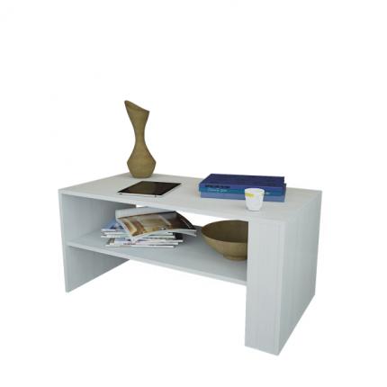 Журнальный столик MFMaster Арто-21 МСТ-СЖА-21-БТ-16 80х49х45 см, белый