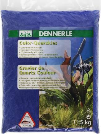 Кварцевый песок для аквариумов Dennerle Color Quartz Gravel, лазурно-синий, 5 кг, 3,35 л