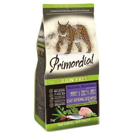 Сухой корм для кошек Primordial Natural instinct, беззерновой, индейка, сельдь, 6кг