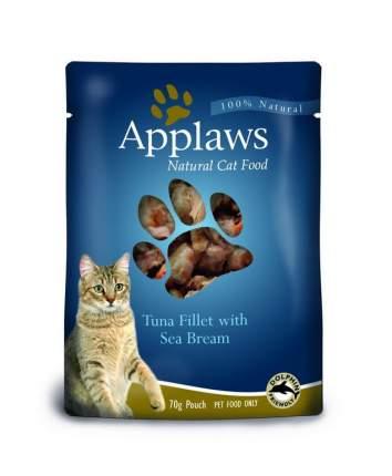 Влажный корм для кошек Applaws, с тунцом и морским окунем, 70г