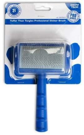 Пуходерка для животных Show Tech мягкий выгнутый, с зубцами средней длины, 10х6 см
