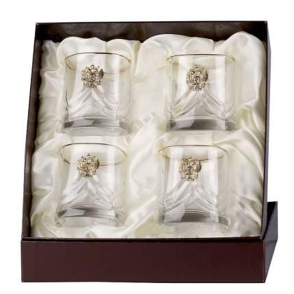 Город Подарков Набор бокалов для виски 4 шт. Герб (латунь)