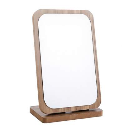 Зеркало складное, деревянное коричневое на подставке, 22х14х4 см, VenusShape VS-MIR-05