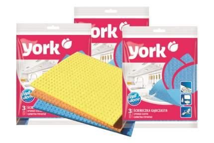YORK Салфетка ''YORK'' (Губч. клетка) 3 шт (набор из 3 штук)