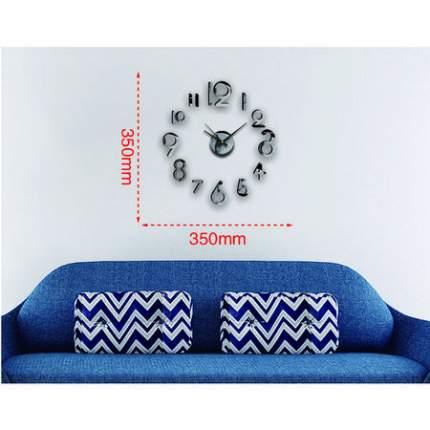 Часы настенные на клейкой ленте, 35 см, черный