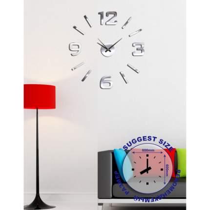 Часы настенные на клейкой ленте, 60 см, хром