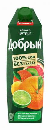 Сок Добрый Яблоко-цитрус 1л