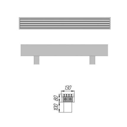 Конвектор КЗТО Элегант мини 130х80х2000 ЭЛМ1308020001НВ