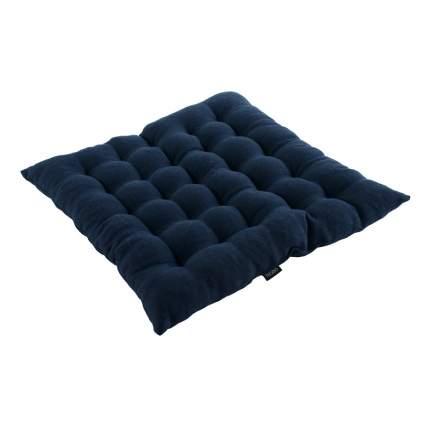 Стеганая подушка на стул темно-синего цвета essential 40х40
