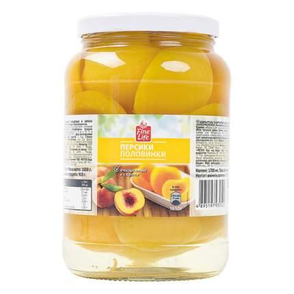 Персики Fine Life половинки очищенные в сиропе 1650 мл
