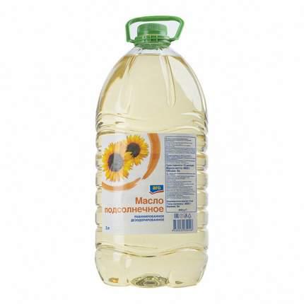 Масло Aro подсолнечное рафинированное дезодорированное 5 л