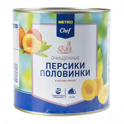 Персики Chef половинки очищенные в легком сиропе 2.5 кг