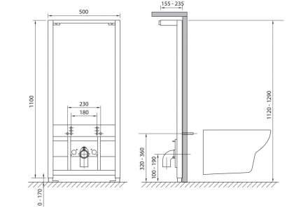 Cersanit Система инсталляции для биде Cersanit Link