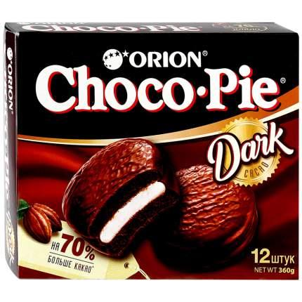 Пирожное Orion Choco Pie Dark в глазури 12 шт 30 г
