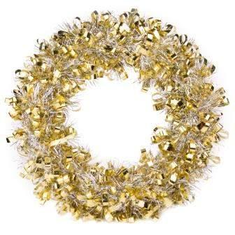Новогодний венок Феникс Present Золотой 82345 28 см