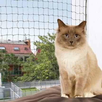 Защитная сетка на окно Trixie Protective Net, размер 400х300см, оливковый