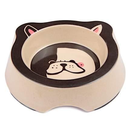 Миска для домашних животных Bobo, из бамбука, коричневая, 260 мл