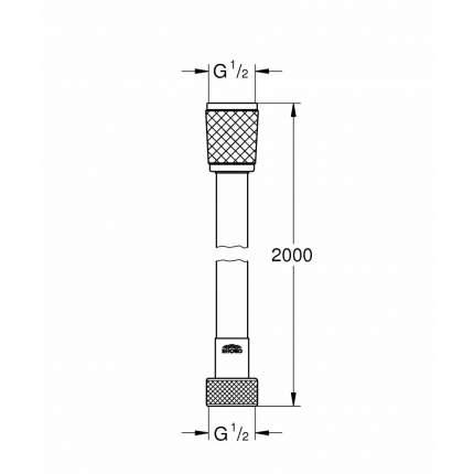 Душевой шланг Relexaflex 28155001 2000 мм, хром