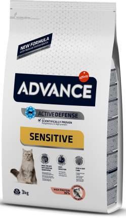 Сухой корм для кошек Advance Sensitive, для чувствительного пищеварения, лосось и рис, 3кг