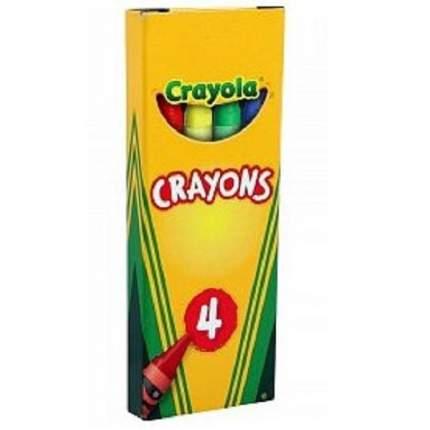 Восковые мелки Crayola 52-1204 цветные, 4 штуки