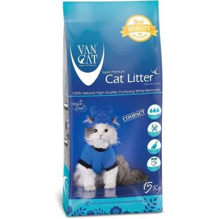 Комкующийся наполнитель для кошек Van Cat 100% Натуральный бентонитовый, 15 кг, 12 л