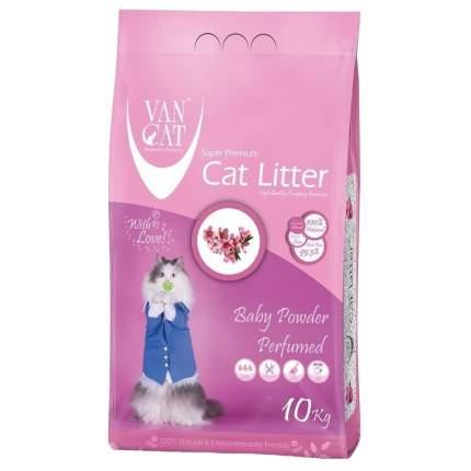 Комкующийся наполнитель для кошек Van Cat бентонитовый, Детская присыпка, 10 кг, 12 л