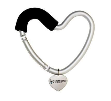 Крепление для сумок Buggygear Сердечко silver/black 2146