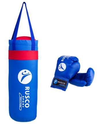 Набор для бокса Rusco 4oz, кожзам, синий