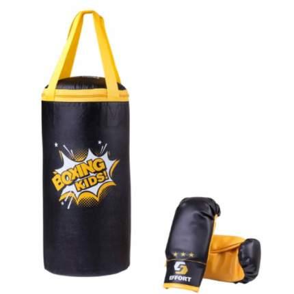 Набор для бокса Effort E1455, кожзам, черный