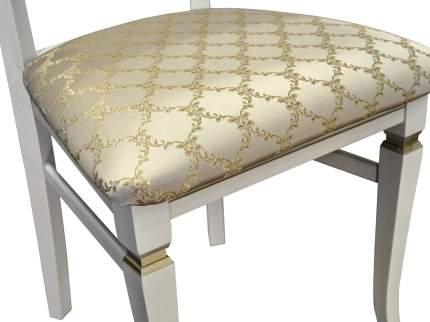 Стул Мебелик Бонита, патина золото/лозанна шери/слоновая кость
