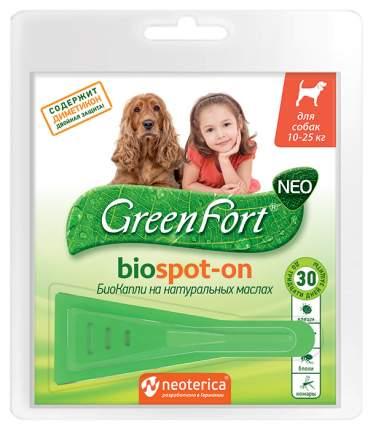 Капли для собак против паразитов GreenFort Neo, для средних пород, 1 пипетка, 1,5 мл