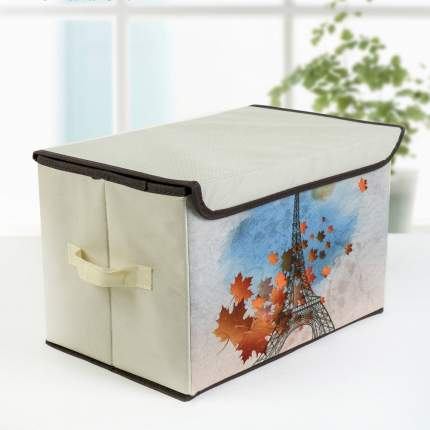 """Коробка для хранения с крышкой """"Осень в Париже"""", 39 х 25 х 25 см"""