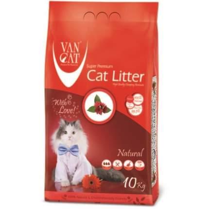 Комкующийся наполнитель для кошек Van Cat 100% Натуральный бентонитовый, 10 кг, 12 л
