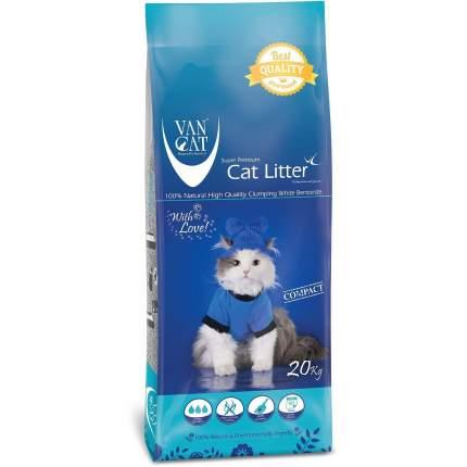 Комкующийся наполнитель для кошек Van Cat 100% Натуральный бентонитовый, 20 кг, 12 л