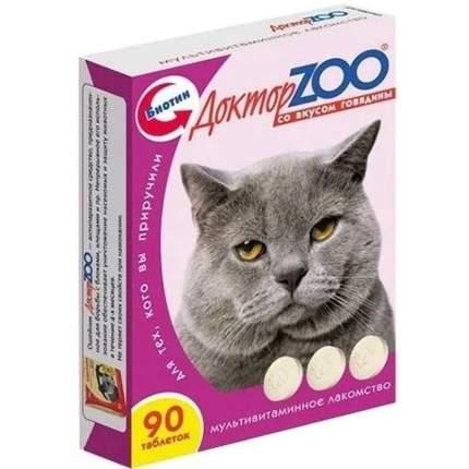 Витаминный комплекс для кошек Доктор ZOO Со вкусом говядины, 90 таб