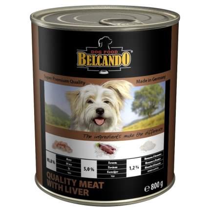 Консервы для собак BELCANDO Super Premium, отборное мясо с печенью, 800г