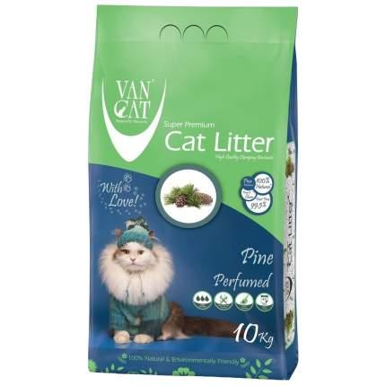 Комкующийся наполнитель для кошек Van Cat бентонитовый, Сосновый лес, 10 кг, 12 л