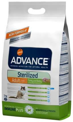 Сухой корм для кошек Advance Sterilized, для стерилизованных, индейка, 3кг