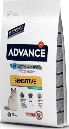Сухой корм для кошек Advance Sterilized Sensitive, для стерилизованных, лосось, 10кг