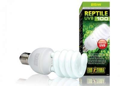 Ультрафиолетовая лампа для террариума Exo Terra Repti Glo 5.0 Compact, 25 Вт