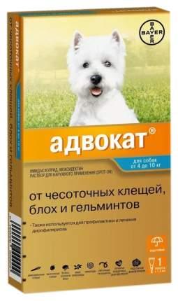 Капли для собак против паразитов Bayer Адвокат, 4-10 кг, 1 пипетка, 1 мл