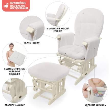 Кресло-качалка для кормления Nuovita Barcelona Avorio, Слоновая кость