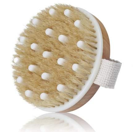 Щетка для сухого массажа тела от целлюлита, массажная щетка с натуральной щетиной