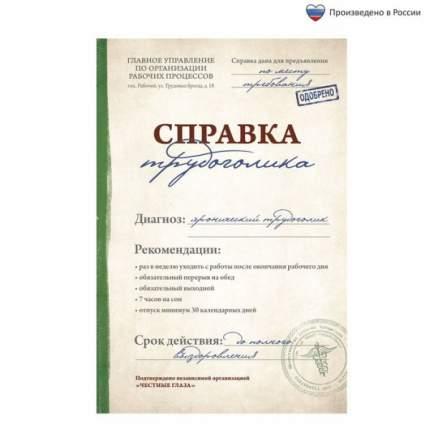 """Ежедневник """"Справка трудоголика"""", А5, 80 листов"""