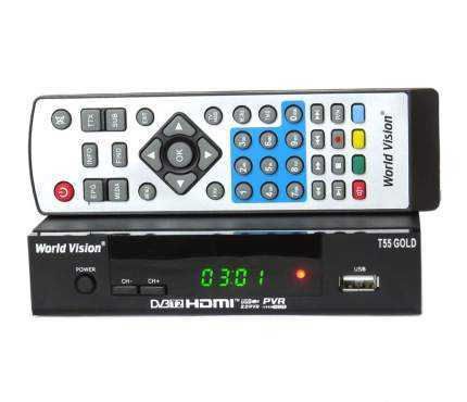 DVB-T2 приставка World Vision T55 Gold/31784 Black