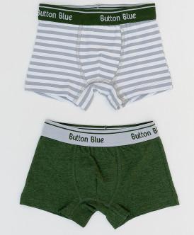 Комплект трусов (2 шт.) для мальчиков Button Blue, цв. хаки, р-р 98-104
