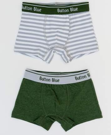 Комплект трусов (2 шт.) для мальчиков Button Blue, цв. хаки, р-р 140-146